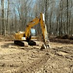Excavator grading plot