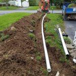 Pipe drainage driveway