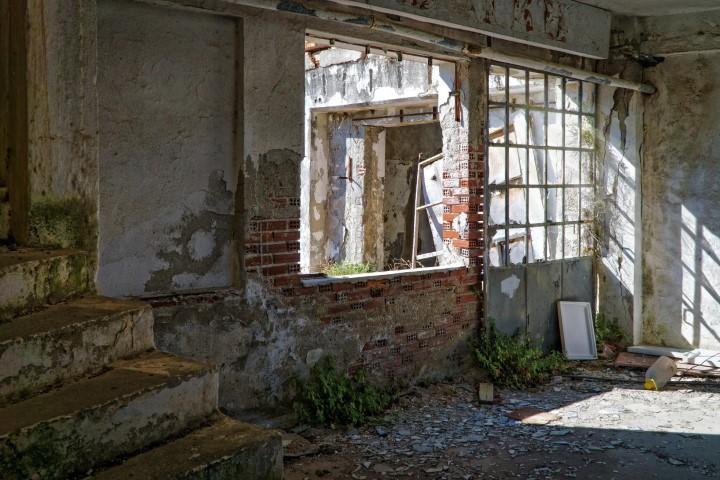 dilapidated brick