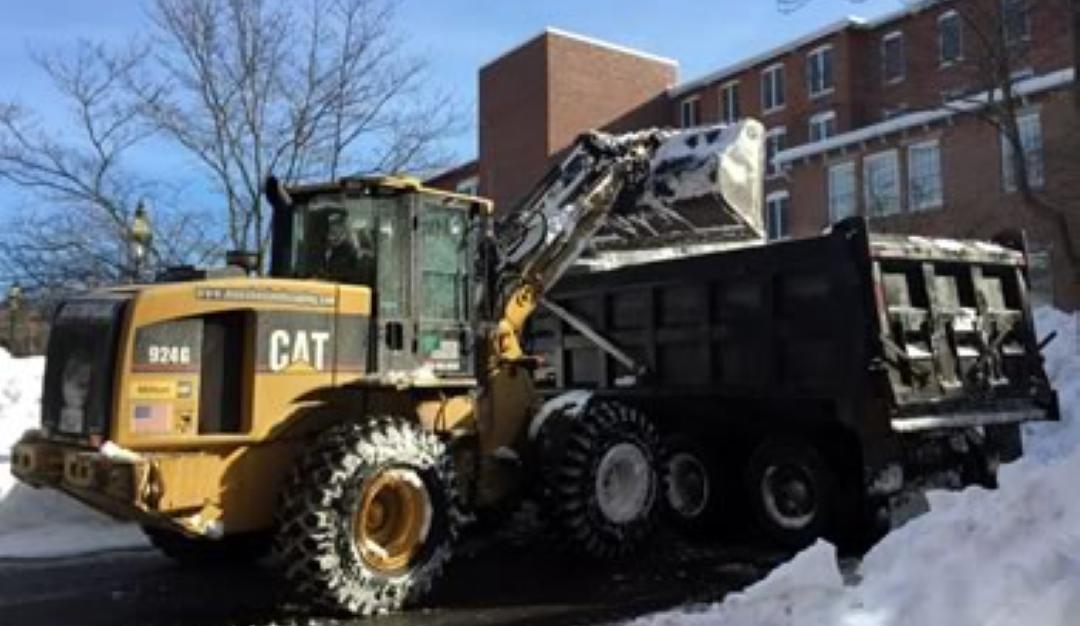 Excavator Snow Hauling Service closer