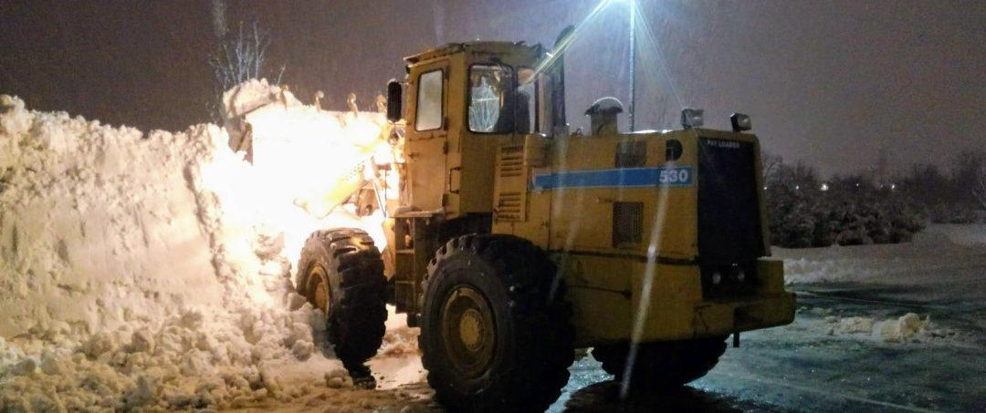 Excavator Snow Removal Service
