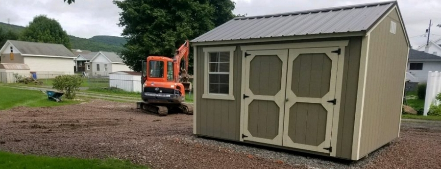 Surface prep and Shed