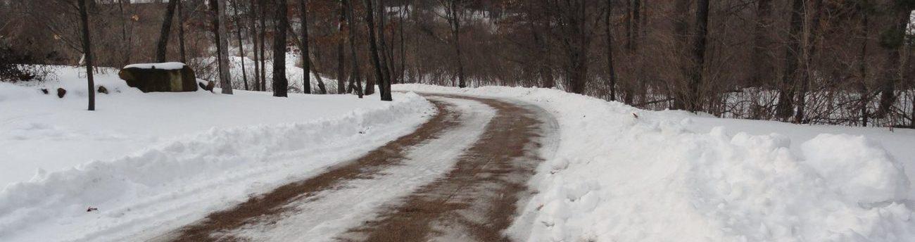 plowed dirt road