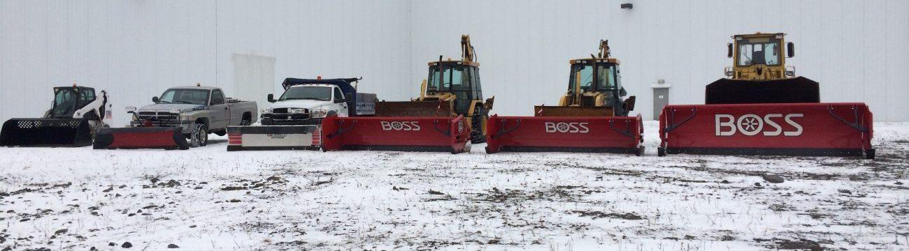 6 machines handling snow