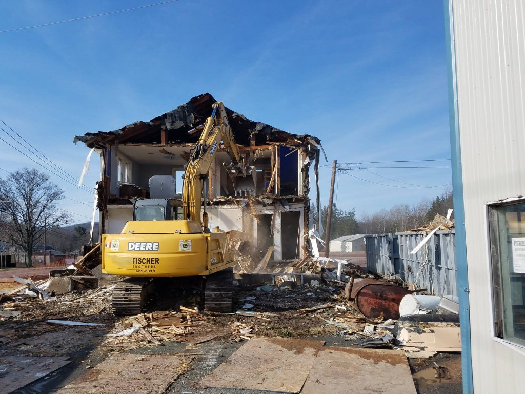 Excavator demo home