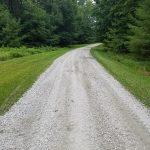 White stone driveway