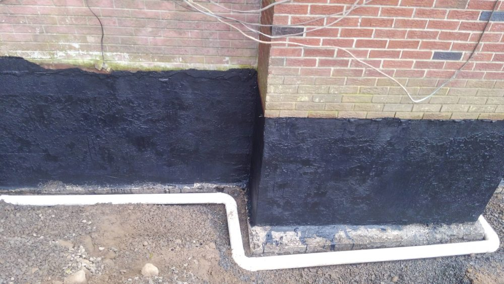 Foundation drainage pipe
