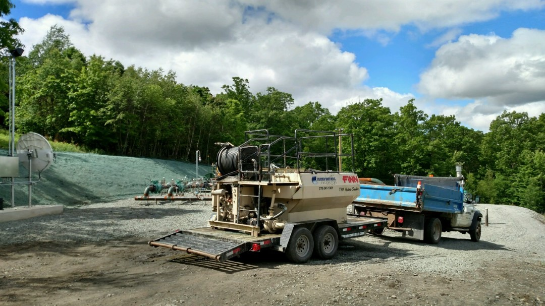 Hydroseeding setup